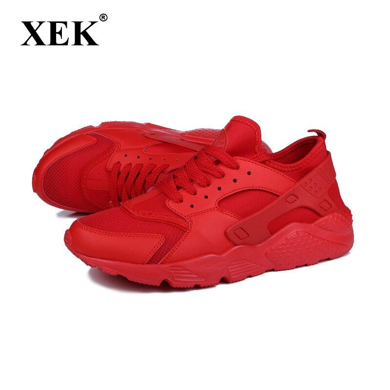XEK femmes baskets respirant air mesh chaussures de course pour femmes de haute qualité noir chaussures de sport femme gym baskets chaussures chaudes KC006
