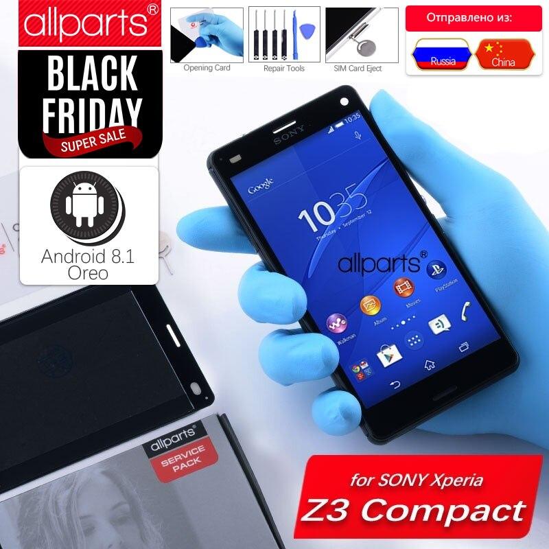 ORIGINAL LCD Für SONY Xperia Z3 Kompakte Display Touchscreen mit Rahmen Z3 Mini D5803 D5833 Für SONY Xperia Z3 kompakte Display