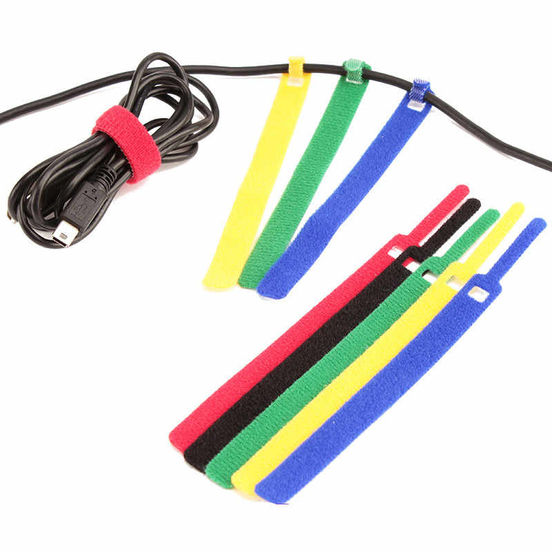 detail feedback questions about 1 1*14 5cm candy color data cable tie nylon  hook loop cable wiring harness cable fastener marker straps power wire