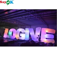 Sayok 1.2m High Inflatable LED Letters Customize A to Z 26 Pieces Letters for Wedding Party Club Decorations