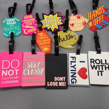 Akcesoria podróżne Tag bagażowy uroczy list nie twoja torba żel krzemionkowy walizka ID Addres Holder bagaż na pokład Tag przenośna etykieta tanie i dobre opinie La MaxZa Żel krzemionkowy 9 5inch 0 04kg Tagi bagaż Akcesoria podróżnicze 6inch