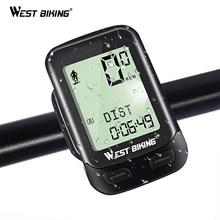 WEST BIKING Bike Computer 5 Language MTB Road Bicycle Wireless Speedometer 2 Bikes Select Upgraded Cycling Backlight Stopwatch