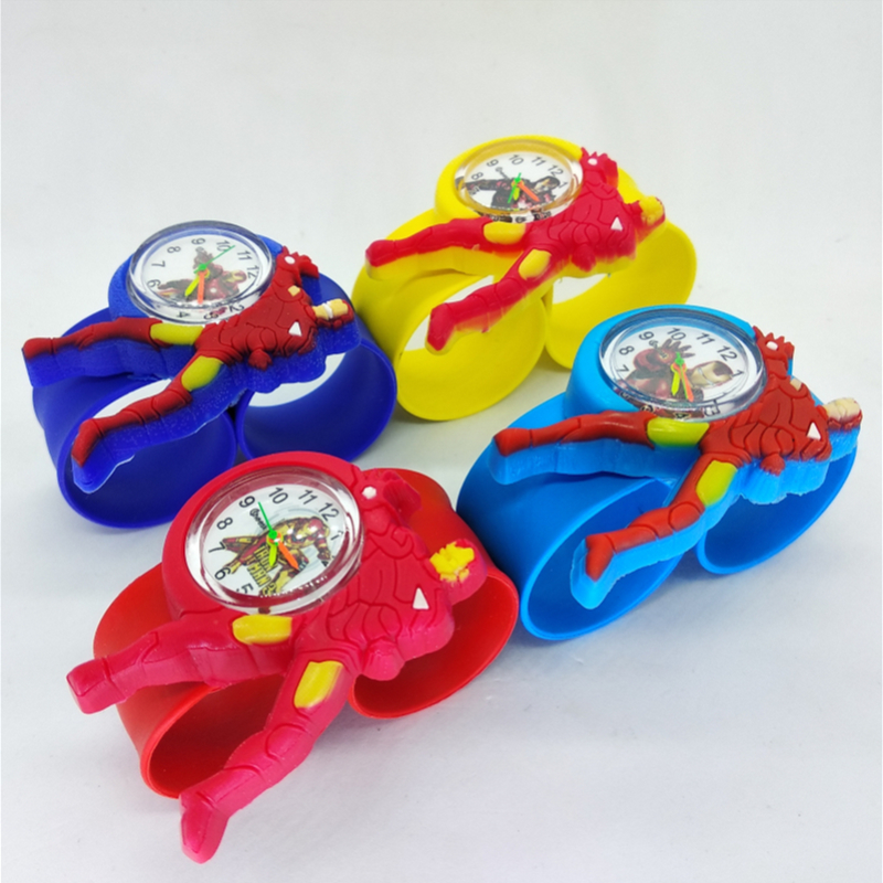 Child Watch Baby Girls Boys Waterproof Kids Super-Hero Student Quartz Hbibi for Toy Gift