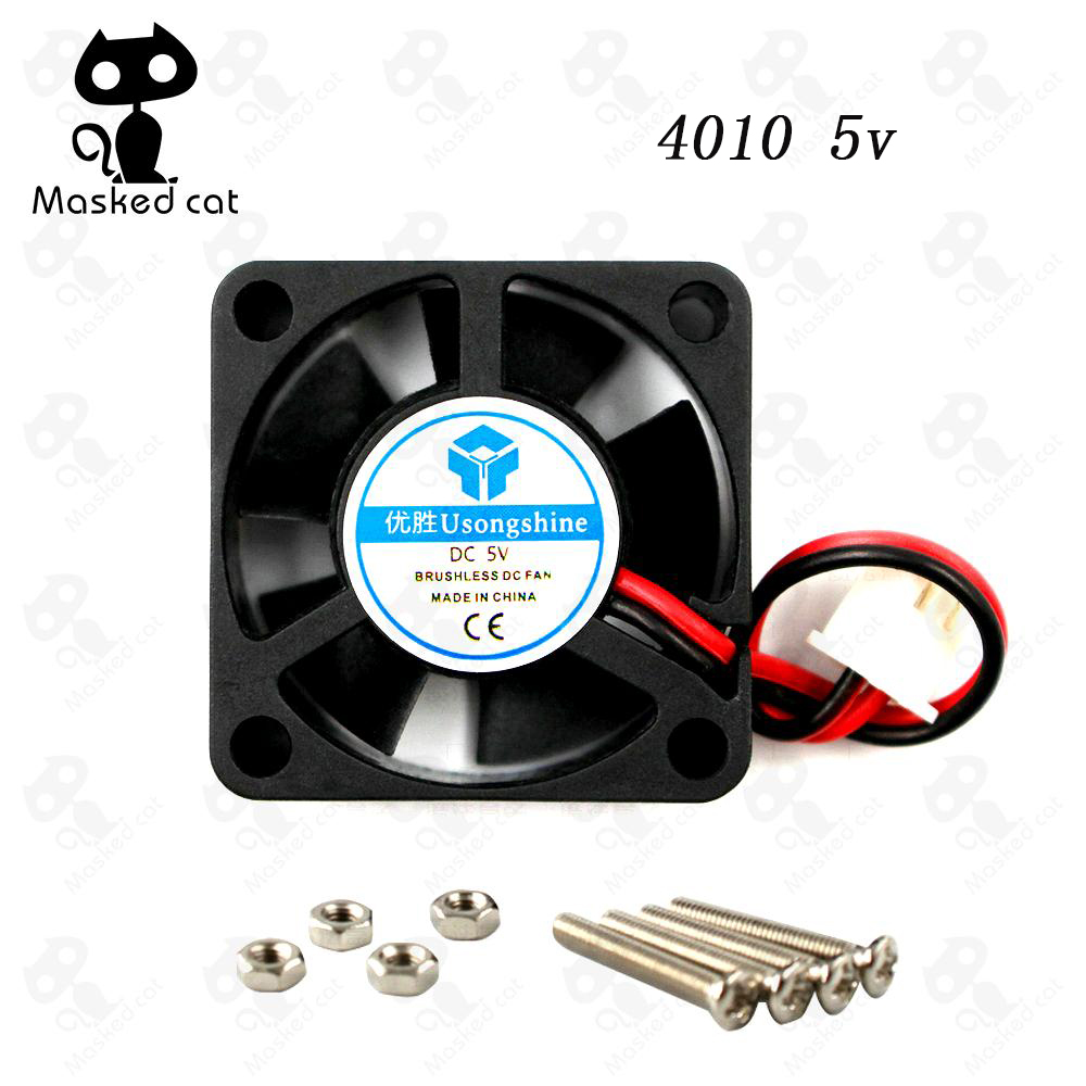 40x40x10mm Mini fan 5V 12V 24V Brushless DC Fans for heatsink cooler cooling radiator for 3d printer parts 4010 Cooling Fan trianglelab radiator fan cover fan duct for e3d radiator for hotend radiator fan bracket for 3d printer accessory for volcano