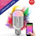 Lifesmart Высокое Качество Smart Bluetooth Лампы E27 Беспроводной Пульт Дистанционного Управления 160 Цветов Затемнения Smart LED Лампы Для Умного Дома