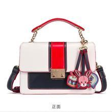 Angelatracy 2019 New Arrival Fashion Korea Panelled Animal Chain Tassel Lock All Match Women Handbag Flap Shoulder Crossbody Bag цены