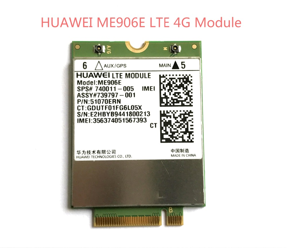 Unlocked ME906E+2PCS IPX4 Antenna NEW&Original FDD LTE 4G WCDMA GSM Module SPS# 740011-005 in stock huawei me906e 2 pcs ipx4 ngff m 2 tv antennas 100% original fdd lte 4g modules wcdma gsm surpport gps module available