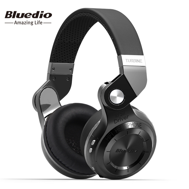 Bluedio t2 dobrar fones de ouvido estéreo bluetooth fone de ouvido sem fio microfone embutido bt4.1 poderoso baixo over-ear fones de ouvido