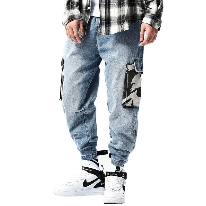 2019 Men Denim Jeans Mens Harem Pants Male Vintage Camo Trousers skinny jeans Man Pantalones Hombre hip hop biker jeans men 5xl denim