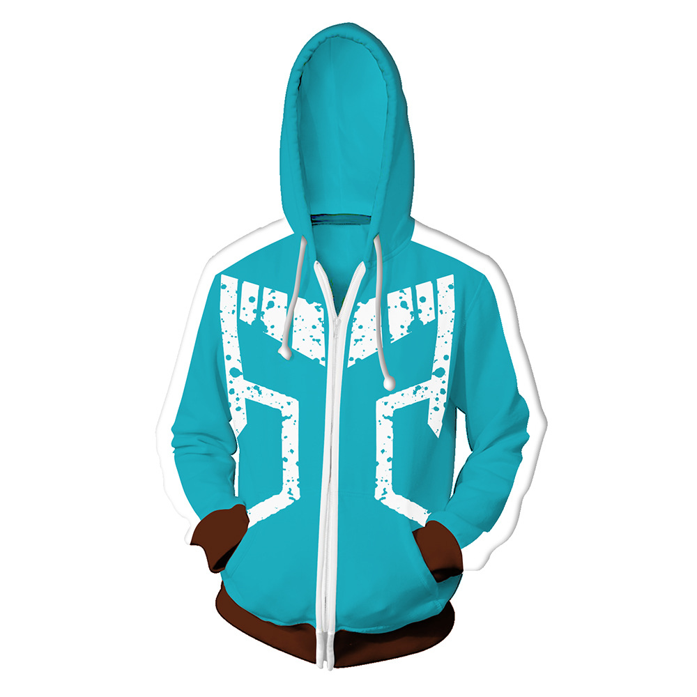 Anime My Hero Academia Hoodies 3D Print Daily Leisure Hoodie Hoody Izuku Midoriya Casual Coat Sweatshirts Hooded Casual Coat