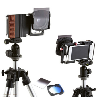 Smartphone stabilisateur Rig w grand Angle / Macro / ND filtres / froide Shoe Mount pour iPhone 6 Plus Samsung S6 bord Oneplus téléphone
