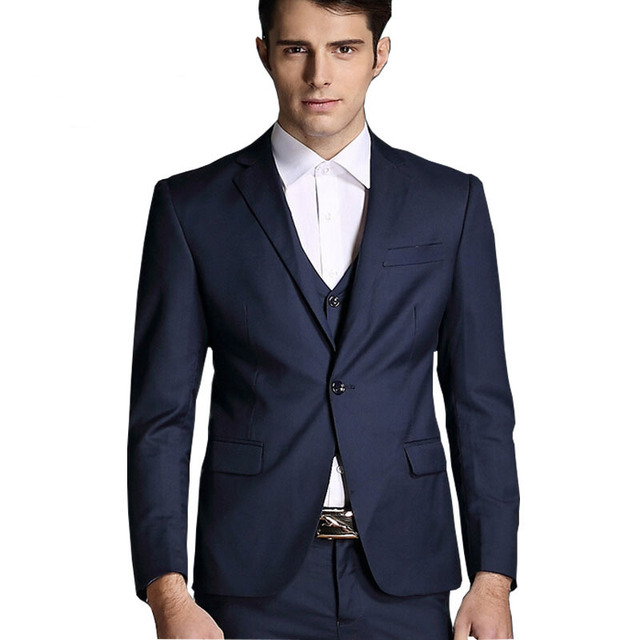 2016 new arrival terno masculino Business casual suits men 2 piece suits with pants Formal wedding dress Slim fit Blaser 235