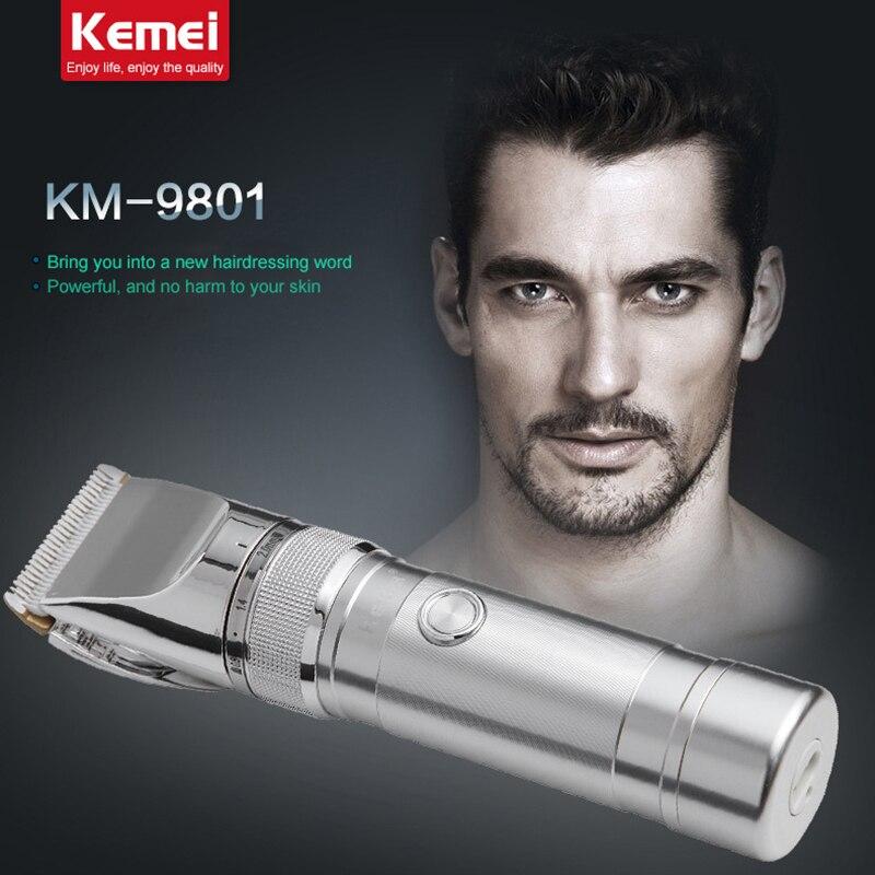 KM9801 kemei elettrico ricaricabile capelli clipper rasoio del barbiere di taglio barba trimmer professionali per capelli trimmer rasatura macchina