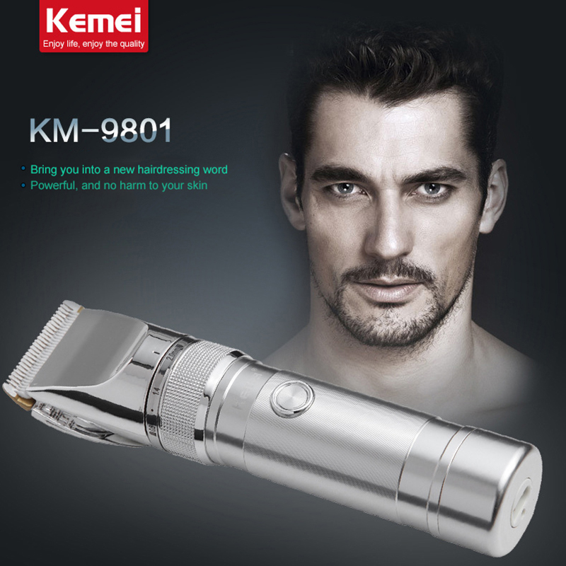 KM9801 kemei rechargeable electric hair clipper razor barber cutting beard trimmer professional hair trimmer shaving machine