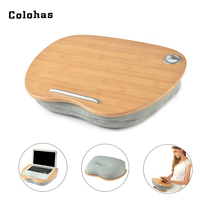 Multifunction Knee Table Laptop Desk For 14 Inch Computer Tablet Phone Flip Portable Outdoor Headrest Office