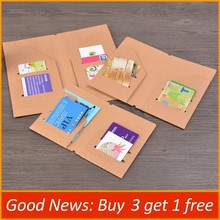 Kraft Paper File Holder Travel Journal Notebook Planner Accessories Regular Passport size Card Holder Pocket Storage