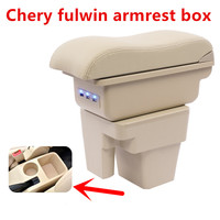 for Chery A13 Very Celer fulwin 2 armrest central Store content Storage box cup holder ashtray interior accessory 08 13