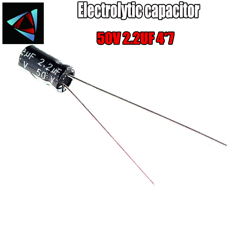 60PCS Higt Quality 50V 2.2UF 4*7mm 2.2UF 50V 4*7 Electrolytic Capacitor