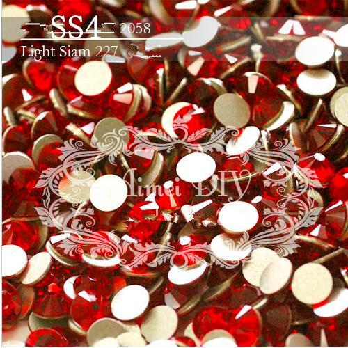 SS4 1.5-1.6mm Siam Red 1440pcs/bag Non HotFix FlatBack Rhinestones,Glass Glitter Glue-on Loose DIY Nail Art Crystals Stones ss12 3 2mm aqua marine nail rhinestones 1440pcs bag non hotfix flatback crystals glass strass glitters for nail art glue stone