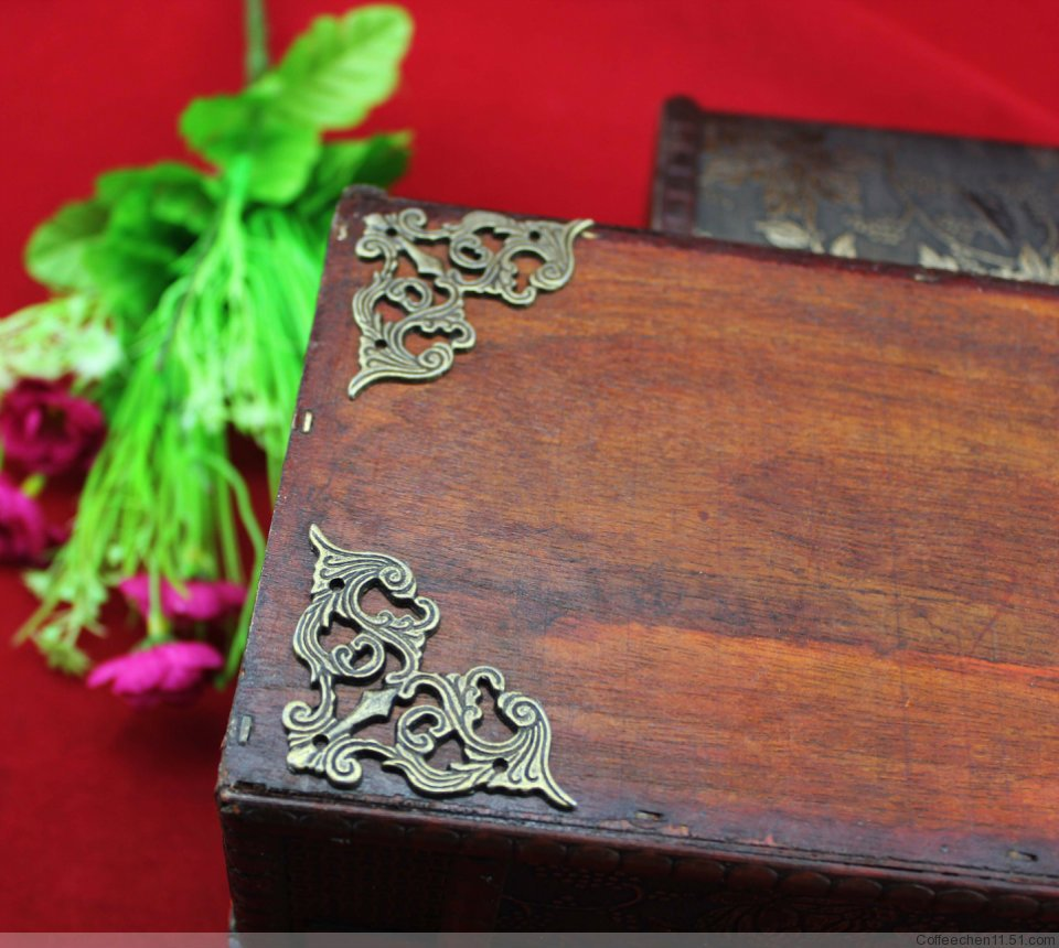 45 45mm 50pcs Furniture Hardware Diy Erfly Pattern Antique Wooden Box Bag Decorative Br Corners For Jewelry Gift