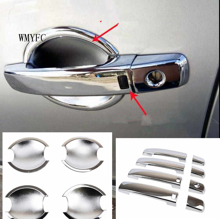 FIT FOR NISSAN QASHQAI DUALIS  2007 2008 2009 2010 2011 2012 2013 SMART DOOR HANDLE + DOOR BOWL COVER CUP TRIM KEY ACCESSORIES
