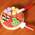 Mother Garden Wooden Lovely Pizza Food Toy Play House Pretend Toy For Girl Boy Kids Kitchen Toys