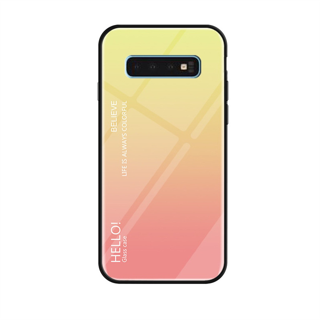 2019 Phone Case For Samsung Galaxy S10 Slim Explosion Proofglass Back Soft Side Phone Case Cover For Samsung Galaxy S10Y4