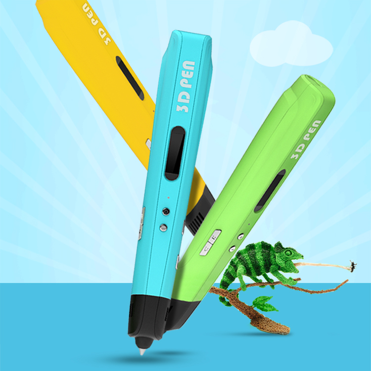 ФОТО New Magic 3d Printer Pen Drawing 3D Pen With Free 3 Color PLA Filament 3D Printing 3d Pens for Kids Birthday Gift Free Shipping