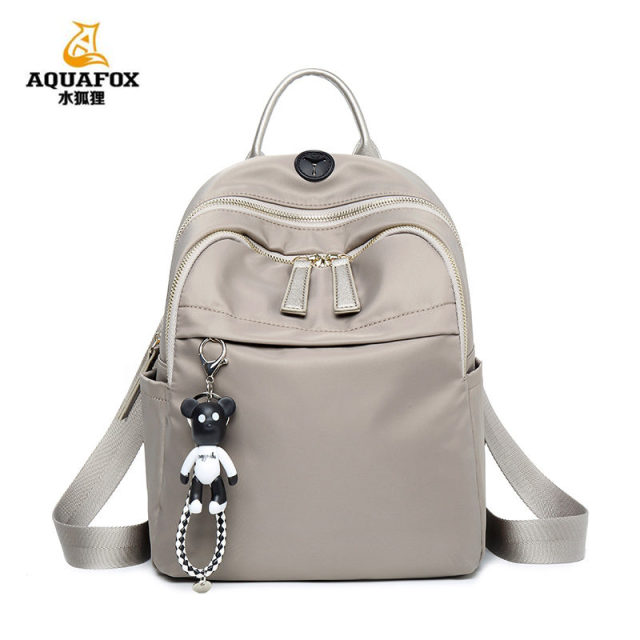 0475f069e3 Women s shoulder bag 2018 new wild Mummy bag nylon Oxford canvas small  fresh backpack AQUAFOX mountaineering bags