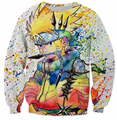 Teen favorites Classic cartoon Naruto 3D printing Naruto/ Kakashi One Piece harajuku fashion Sweatshirt Pullover plus size S-3XL