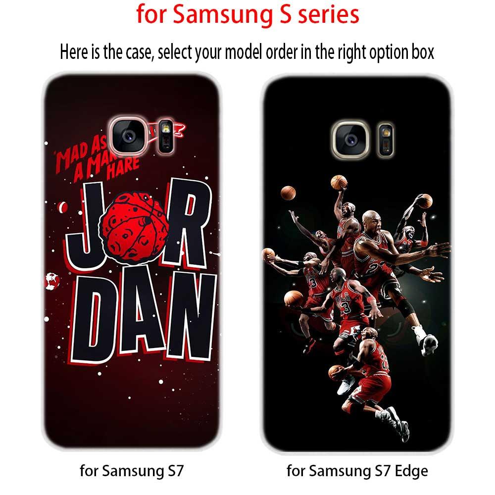 new product 8c3cd cb630 Legend Michael Jordan Figure Soft Silicone Phone Back Case Cover For  Samsung Galaxy S6 S7 Edge S8 S9 Plus S10 Plus Lite Note 8 9