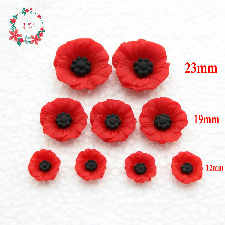 100pcs resin artificial poppy flowers flatback embellishment chic 100pcs resin artificial poppy flowers flatback embellishment chic poppy flower cabochons diy jewelry beads craft supplies in figurines miniatures from mightylinksfo
