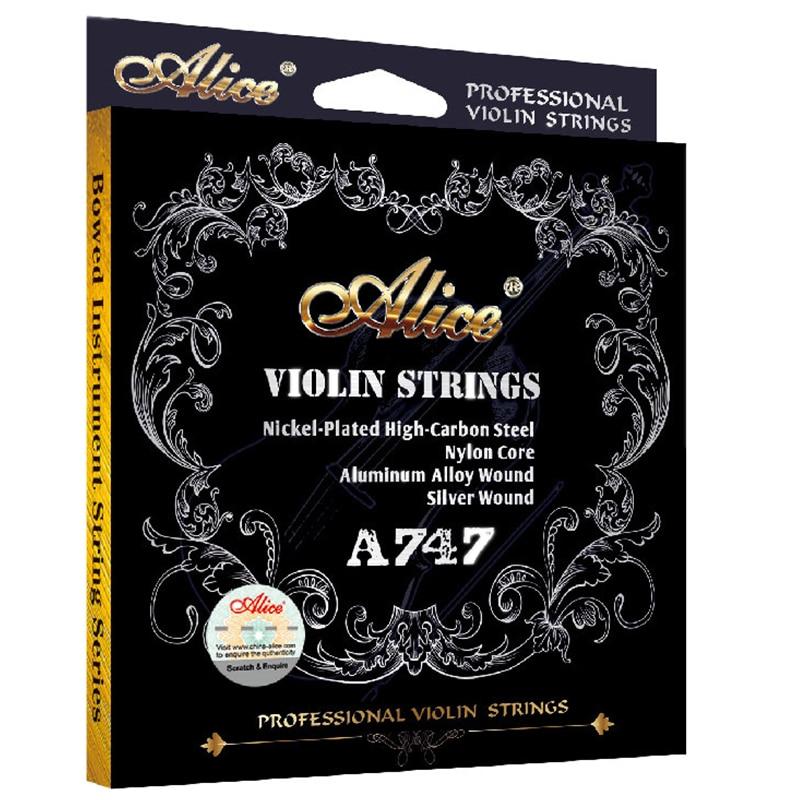Vioolsnaren Alice A747 vernikkeld Hoog koolstofstaal Nylon cor - Muziekinstrumenten - Foto 1
