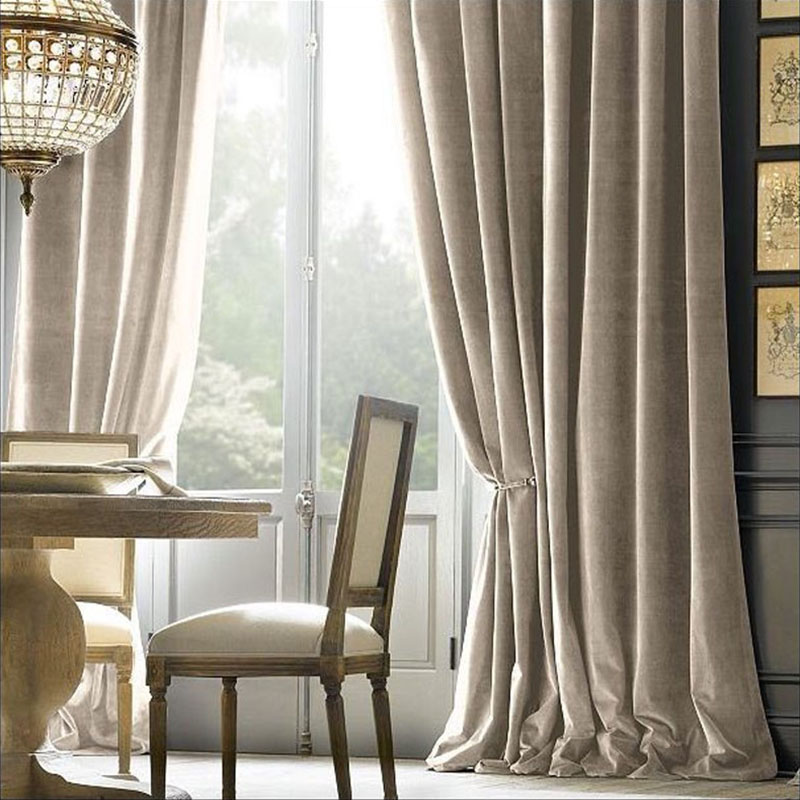 high quality velvet Curtain pure color cortina silky tende firany rideaux velvet material blackout Curtains