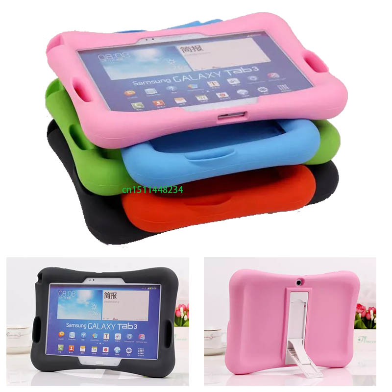 Kids Shock silicone Stand With Audio Amplifier Case For Samsung Galaxy Tab 4 10.1 SM-T530 531 T535/TAB 3 10.1 P5200 P5210 P5220 цена