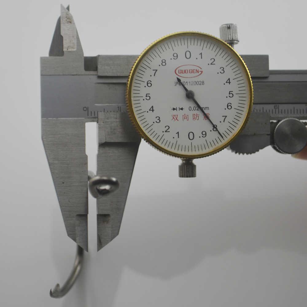 MNFT 6 יח'\חבילה חדים באיכות גבוהה פחמן פלדה שפמנון גדול דיג ווים 8083 על מלוחים וו גודל 8.0*4.0cm סיטונאי מחיר