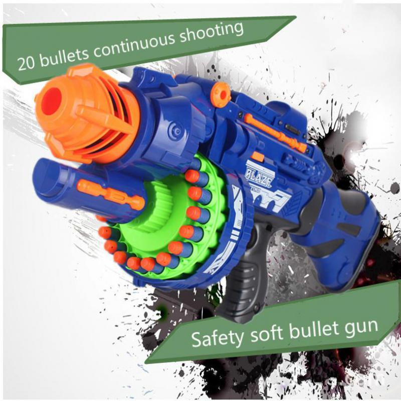 ไฟฟ้าของเล่นปืนนุ่มยืดหยุ่นพลาสติกยิงกระสุนต่อสู้ 20 Bursts Of Sniper เด็ก Field Gun ของเล่นเด็ก-ใน ปืนของเล่น จาก ของเล่นและงานอดิเรก บน   3