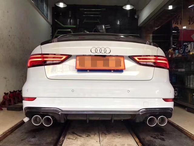 2017 M Style Carbon Fiber Rear Diffuser Lip For Audi A3 S ...