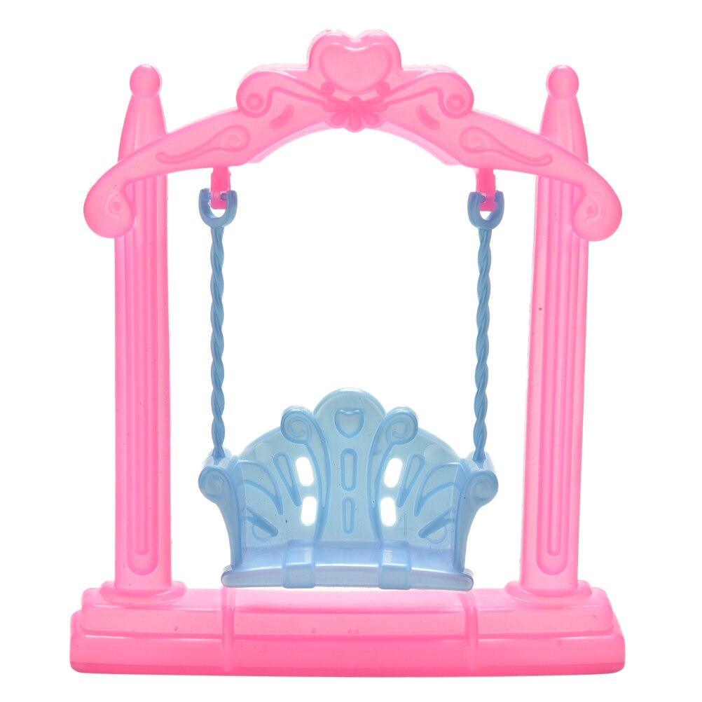 1Pcs New Fashion Mini Plastic Swing For Dolls Accessories