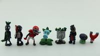Free Shipping PVZ Plants Vs Zombies Toys Snow Pea Football Zombie Flag Zombie PVC Action Figures