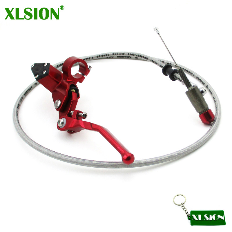 XLSION CNC Red Clutch Lever Master Cylinder For Chinese Lifan YX XR CRF KLX SSR YCF IMR Atomik Apollo Kayo Stomp