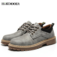 цены Men Leather Casual Shoes Leather Brand Men Martin Shoes Work Safety Boots Designer Mens Flats Work & Safety Shoes