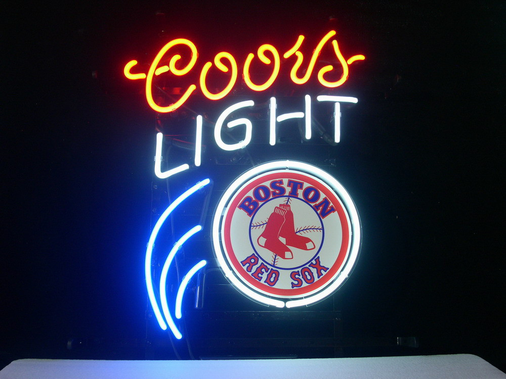 Business NEON SIGN board For  BOSTON RED SOX BASEBALL COORS   REAL GLASS Tube BEER BAR PUB Club Shop Light Signs 17*14 powerball neon red pro кистевой тренажер со счетчиком