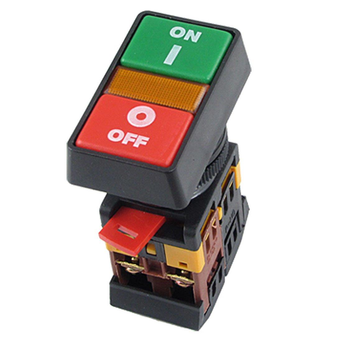 все цены на  Promotion! ON OFF START STOP Push Button w Light Indicator Momentary Switch Red Green Power  онлайн