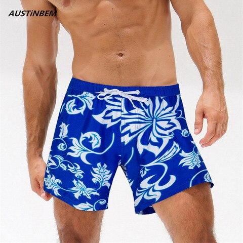 Calções de Praia Desgaste da Natação Esportes de Carga do Mar Austinbem Homens Marca Sexy Surf Swim Trunks Shorts Men Boardshorts Tamanho xl