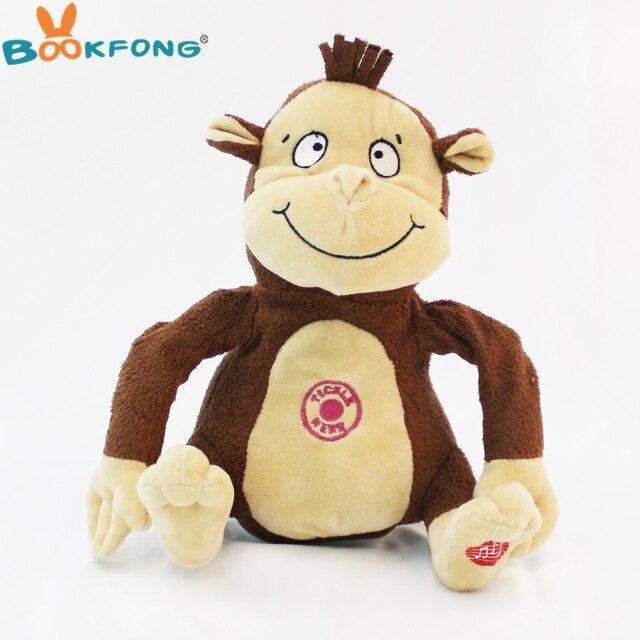 Electric Monkey Plush Toy Cute Music Move Monkey Stuffed Animal Doll