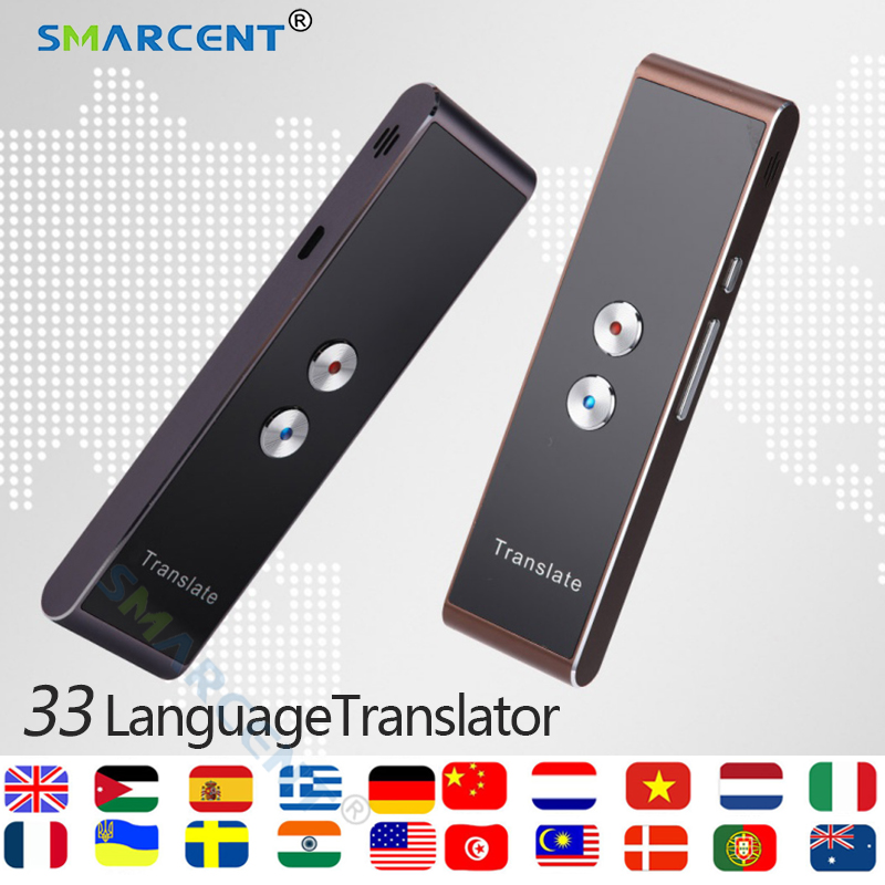 Inteligente Traductor de voz de dos en tiempo Real discurso Dispositivo de traducción interactiva de aprendizaje viajar reunión de negocios Traductor