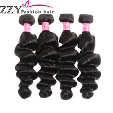ZZY Fashion Hair Brazilian Loose Deep Hair weave Bundles 100% Human Hair Extension Non Remy Hair(China)