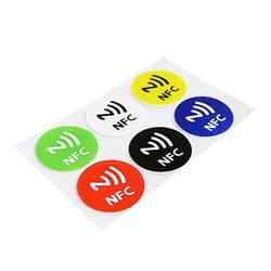 (6 шт./лот) NFC метки стикеры s NTAG213 NFC метки наклейки-этикетки стикеры универсальные этикетки Ntag213 RFID метки для всех NFC телефонов