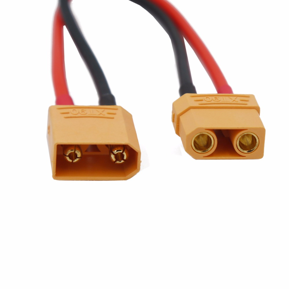RC Battery Cable XT90 Connector Male Female Connector Plug With 14AWG Silicone Wire 20% Off
